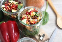 cuisine salée/ salades, lunch boxes, finger food