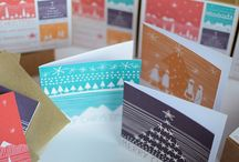 Illustrated Products / Bright graphical illustrated art prints; greeting cards; card packs and boxes by Ruth Thorp Studio.