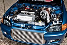 Turbogeladen honda civic's / Honda civic's met turbocompressors er aan
