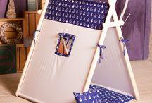 tenda e caixa de areia