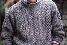 мужская вязанная одежда