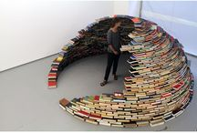 Art and Design / Any art, installation, and design that uses books and its pages --- it's about recycling and upcycling books!