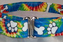 Paws and Bones Dog Collars / Paws, bones and more.  Check out our selection of dog collars show a cute array of different color paws and bones.  Blues, blacks, greens and more.  / by Buddy and Friends