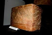 European Neolithic pottery . lines. lozenges. triangles