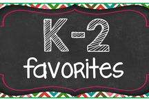 K-2 Favorites / A collection of my Kindergarten, First and Second Grade favorites for teachers. This board is a compilation of blog posts and products perfect for any primary teacher.