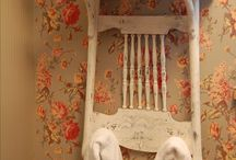 Shabby chic / Chair hanger
