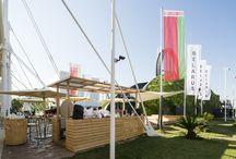 Padiglione Bielorussia - Expo 2015 / Ancoraggio delle strutture metalliche con Mapefill