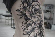 Line Art Tattoo Flower