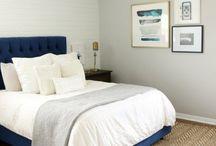 blue headboard bedroom