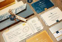 aviation/ travel themed wedding