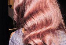 Pink/ purple hair