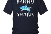 Gammy Shark Gift T-Shirt For Women