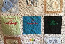 Memory Quilts / From crib sheets, baby clothes and blankets