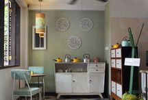 dapur bunda / Interior design project with vintage feeling of a homey restaurant