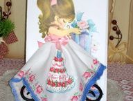Vintage Style Hanky Greeting Cards / Adorable Victorian Greeting Cards with the gift of a Hanky built into the picture!