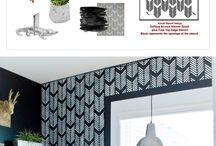 Bedroom stencil ideas
