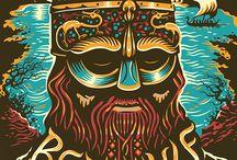 Tom Duxbury Illustration / Linocut Style Illustrations by Tom Duxbury represented by Artist Partners. Full portfolio here: bit.ly/duxtom