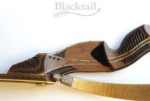 Native American Indian Carved Archery Bow / Hand-carved, hand engraved archery bow (Native American Indian Tribute bow)