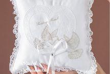 Ringkussens bruiloft/Wedding pillows for a wedding rings / Kussens voor de trouwringen/Pillows for the wedding rings