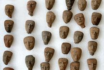 Small clay heads