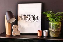 Interiors + Inspiration / Beautiful interior and one of our favorite prints, such a great combination!