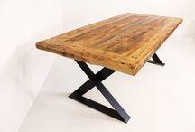 Table / Nos tables sont l'exemple parfait du look industriel.  Tous les modèles sont disponibles avec choix de patte, de finition et de différentes dimensions.