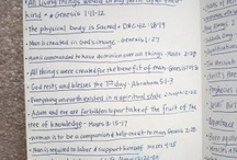 Scriptures and church helps  / by Elizabeth Frederick