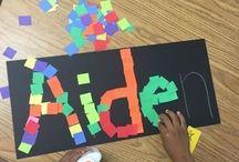Name Learning Activities / Puuhaa ja tehtäviä, joiden avulla lapsi voi opetella kirjoittamaan oman nimensä