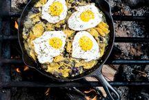 Au menu: barbecue / campfire recipes