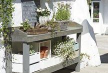 The balcony and the garden interior / balcony  garden outdoor interior  outdoor storage