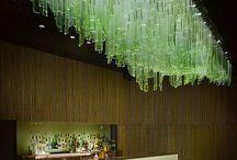 Bamboo - Light Sculpture, London, Jitka Skuhrava Glass