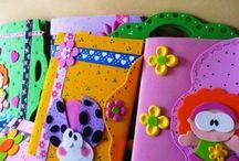 cuadernos forrados