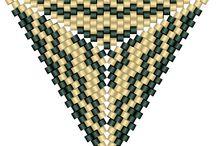 trójkąt / wyplatanie trójkąta - zawieszki