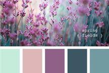 цветочные палитры