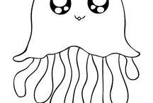 Arts & Crafts: Sea Creature Templates 1