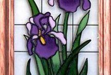 iris hand painted