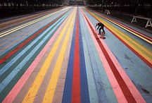 10 Art inspiration / Painting on photos, pattern making and geometry