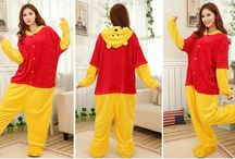 Kigurumi / Super soft Kigurumi costumes made from fleece. Adorable & comfortable, our Kigurumi makes perfect outfit for a hot date with some one who love Pooh & Pandas.  / by UNIQSO