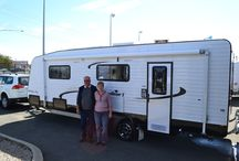 Satisfied Customers / Displaying all satisfied customers picking up their brand new caravans from Sunrise Caravans