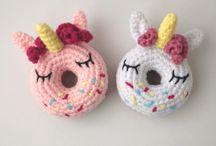 Unicorn Donut Amigurumi / Amigurumi Unicorn Donut #amigurumi #pattern #unicorndonut #unicorn
