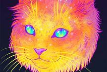 Galactic Cat Series by Jen Bartel. / Galactic Cat Series by Jen Bartel.  -----------------------------------------------------------------------------  SULEMAN.RECORD.ARTGALLERY: https://www.facebook.com/media/set/?set=a.388764968000195.1073741898.286950091515017&type=3  Technology Integration In Education: