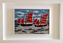Framed mosaics in bespoke frames from Felicity Ball mosaics / I am now framing my original mosaic art - I think you'll agree, they really set my work off!