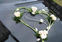 Ślub auto Wedding car decoration