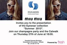 Catwalk & champaign event - MIU MIU Eyewear Collection 2013