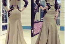 Gawn / Beige black dresses