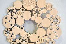 Wooden Ornaments by Double O Woodcrafts / Laser-cut Wooden Ornaments, Designed & Manufactures by Double O Woodcrafts