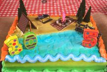 Camping Birthday Party / Camping theme birthday party (decor, candy bar, activities and some food ideas)