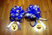Ribbon bouquets / Mix blue white Ribbon bouquets 4 opening store :) love it