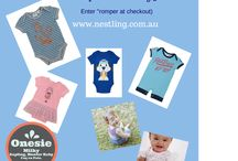 Onesies of all sorts / baby onesies from Nestling