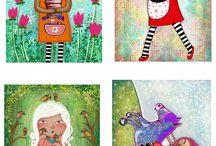 Art Paintings Digital Children Kids Wall Decor by Beatrice Ajayi / Art,digital,paintings,nursery,kid,children
